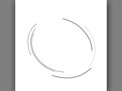 Abstract Clock Line 1 composition illustration design minimal clock abstract line