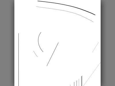 Abstract Clock Line 2 composition illustration design minimal clock abstract line