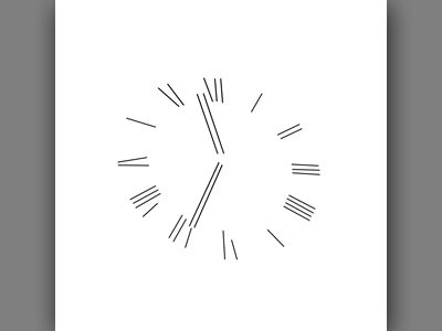 Abstract Clock Line 4 composition illustration design minimal clock abstract line