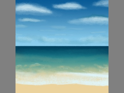 Beach Painting social media ocean sea waves painting illustration instagram beach