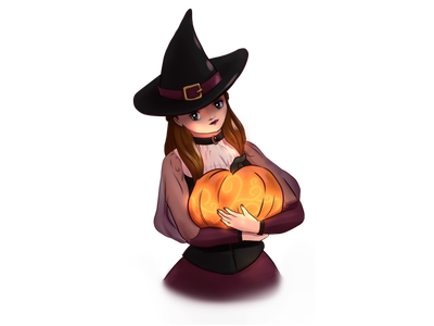 Witchy Me - Halloween Art Special halloween manga anime art clip studio paint illustration
