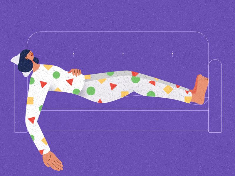 Zzz sofa night goodnight zzz sleepy sleeping pajamas crayon shin chan shin chan japan hong kong vector texture illustrator character design illustration