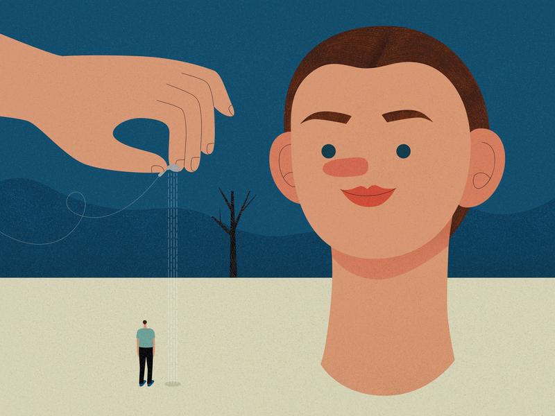 Anxiety dream alone design life affinity designer illustrator vector texture character design illustration