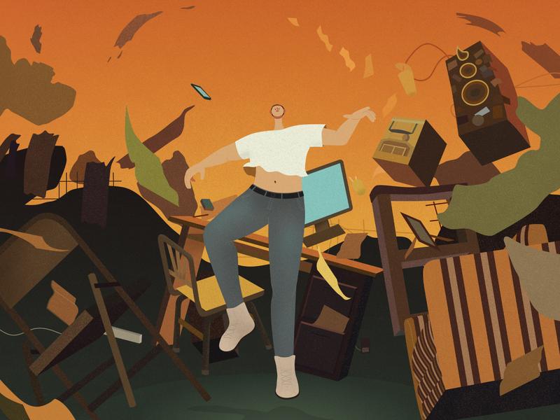 """No Pressure"" by Logic cd cover album rapper american hip hop abstract painting digitalart design affinity designer hong kong illustrator vector texture character design illustration"