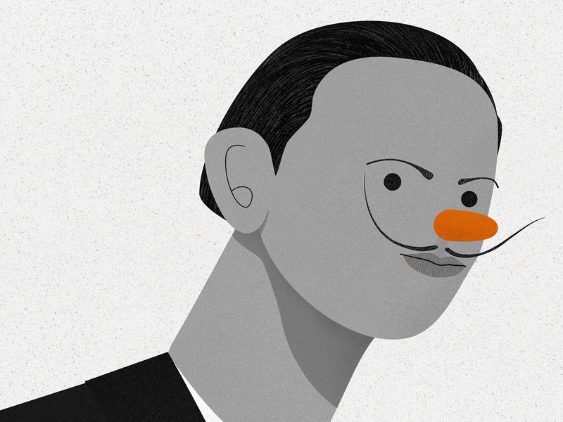 Salvador Dali artists surrealism spanish spain portrait illustration artist design affinity designer illustrator vector texture character design illustration
