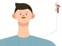 Nose Acne love illustrator texture vector character design illustration