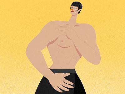 Bruce Lee man muscle strong affinity designer illustrator vector texture character design illustration san francisco usa hong kong bruce bruce lee