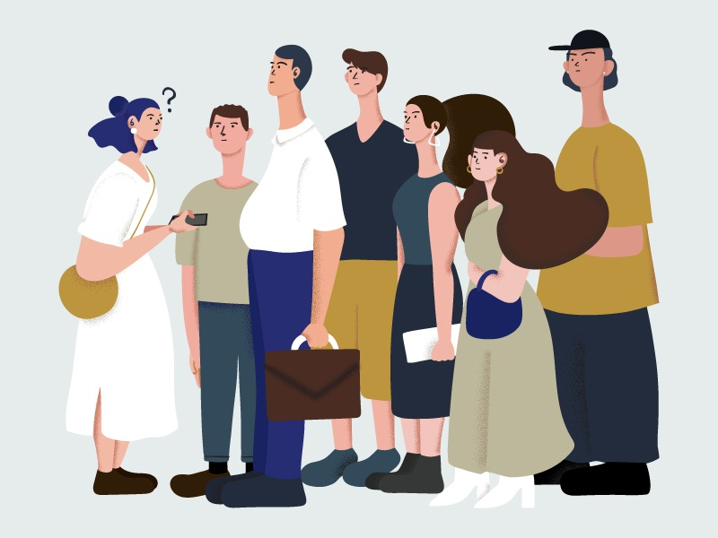 What? what people illustration