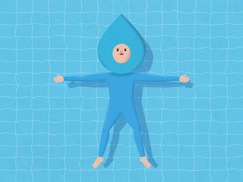 Be Water My Friend quote bruce lee swimming pool character design water