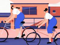 Bike Girls in Takamatsu