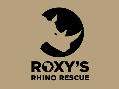 Roxy's Rhino Rescue small business logo business logo logo design logo designer logo design icon logos not for profit african logo rhino endangered species save the rhino charity logo