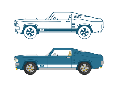 Ford Mustang GT 1967 vector design illustration 1967 ford mustanggt ford mustang