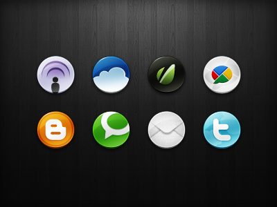 More Social Icons (64x64) social media 64 x 64 podcast envato blogger email twitter technorati