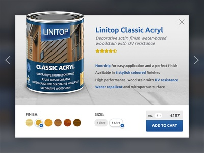 Linitop Quickview quickview wood varnishes stains woodcare wordpress woocommerce ecommerce