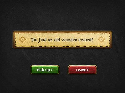 Fantasy UI Dialogue rpg game message ui buttons