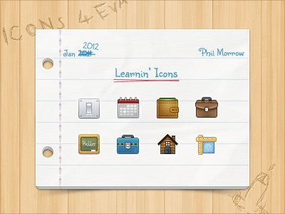 Icon Presentation 32px icons learning paper