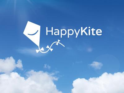 Happy Kite logo kite happy sky clouds