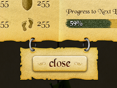 Stats Window rpg fantasy iphone parchment stats xp