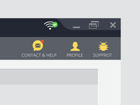desktop app menu