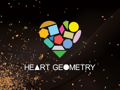 Heart Geometry Logo sweetheart logo design branding brand identity geometry creative inspiration heart logo loveheart love heart logo