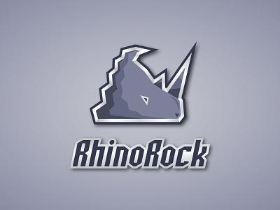 RhinoRock Logo logo design branding logo inspiration brand identity confident mountain wild animal tough strong rhino logo rhino
