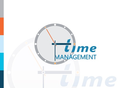 Time Management Logo productivity planning time tracking timing goal clock logo clock time management time logo inspiration logo design logo