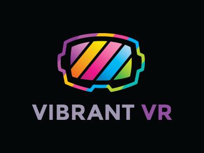 Vibrant Vr Logo vibrant colorful cyberspace headset game vr player app logo for sale vr logo reality logo virtual virtual reality