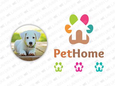 Pet Home Logo pet paw dog cat animal pet shop pet home pet logo pet forsale creative identity branding logo for sale logo inspiration logo design logo