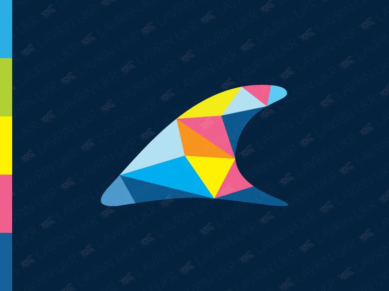 Dolphin Fin Logo fin orca whale logo polygon logo vibrant logo colorful logo marine ocean sea fish logo dolphin logo dolphin forsale creative identity branding logo for sale logo inspiration logo design logo