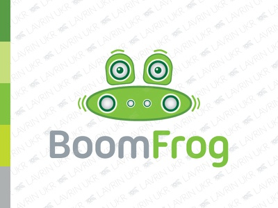Boombox Frog Logo logodesign animal green funny frog beat speaker sound audio music boombox forsale creative identity branding logo for sale logo inspiration logo design logo