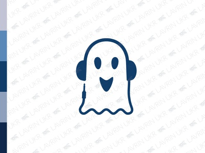 Ghost Music Logo dj friendly halloween spirit ghost sound audio headphones logo dj logo music logo ghost logo logo for sale forsale creative identity branding logo inspiration logo design logo
