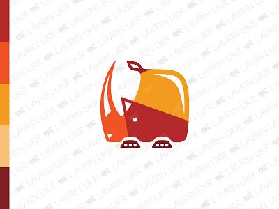 Rhino Logo animal logo wild animal confident tough strong protection powerful horn rhino logo rhino logo for sale forsale creative identity branding logo inspiration logo design logo