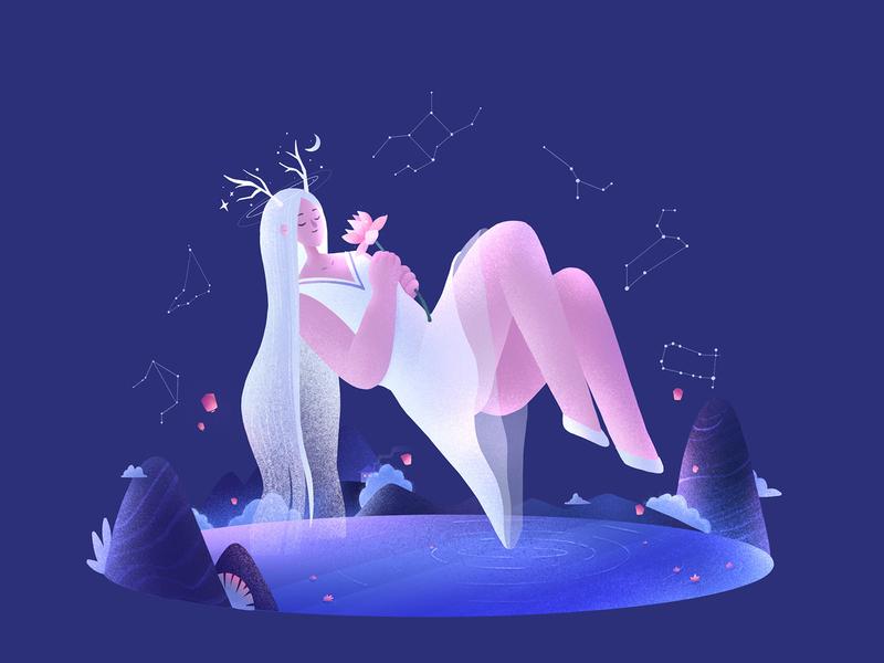 The Girls07 summer procreate character girl design illustration