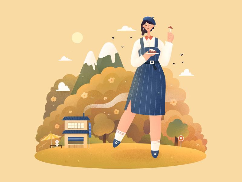 The Girls11 autumn procreate girl character design illustration