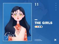 Illustration11 flower procreate character girl design illustration