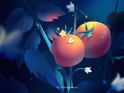 Tomato tomato cute character illustration