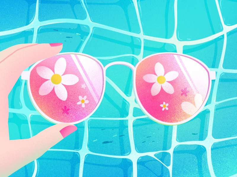 summer is coming02 sea flower fish summer design illustration