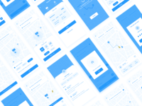 Taxi App wireframe