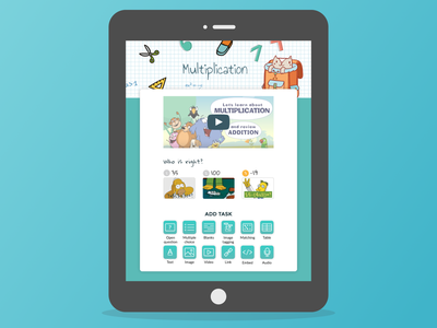 Wizer Worksheet illustration edtech web app branding ux ui