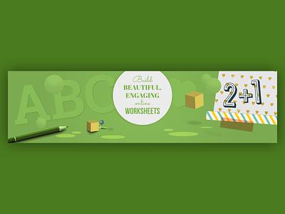 Wizer header edtech craft graphic design web app branding ui