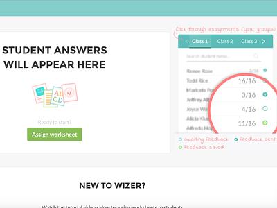 Wizer empty state edtech onboarding empty state web app ux ui