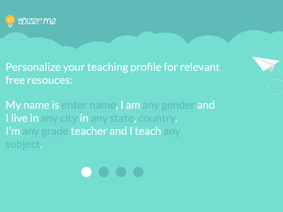 Wizer onboaring segmentation profile customize personalize signup onboarding edtech education app web app ux ui