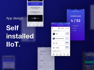 Augury intro progress human centered design user centered design installation b2b app design app iot visual design ux ui