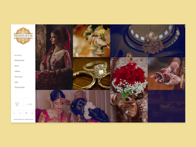 Wedding House - Project Pitch app website web branding typography icon minimal flat ux ui