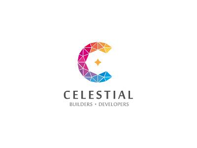 Celestial Logo colorful luxury construction developers builders celestial typography logo identity branding