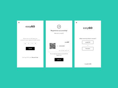 easyGo Personal Project app design application information app map transportation travel app travel app minimal logo ui identity flat ux typography icon design branding