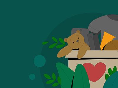 Donations gravit designer vector character design ui branding vector illustration animation character design illustration
