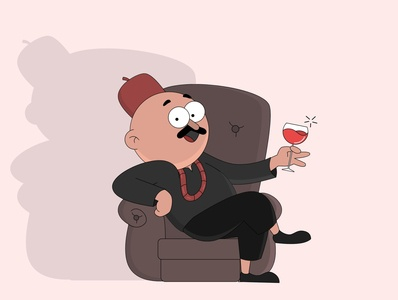 igbo man chilling graphic design gravit designer illustrator animation vector illustration sketch character design character vector design illustration