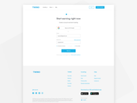 Sign Up page of Twino