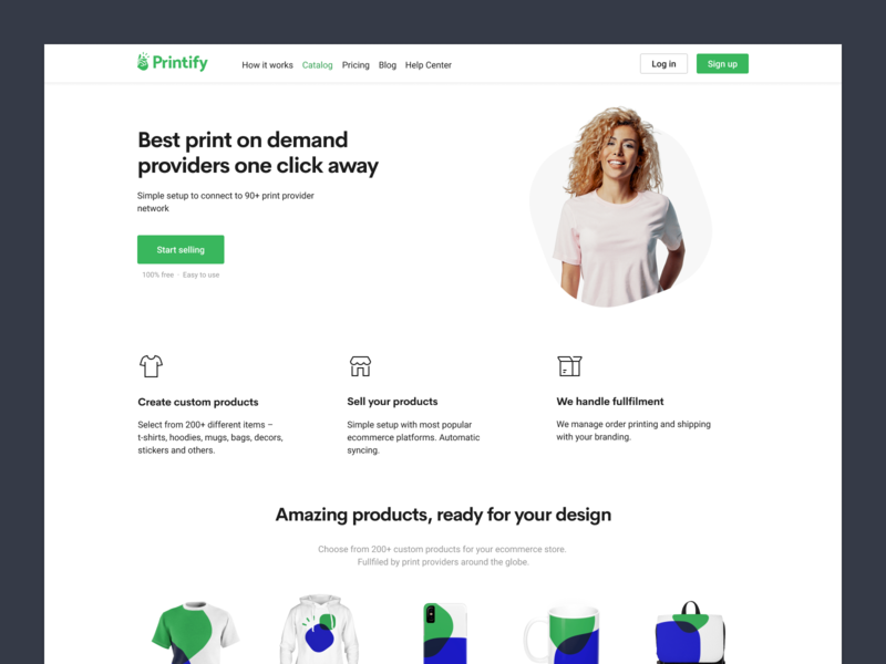 New Printify Website by Reinis Pauliņš on Dribbble